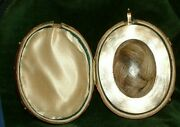 Very Rare Boxed Victorian 15ct Gold Hair Picture Locket Very Very Large Rare