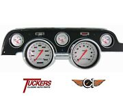 1967-68 Ford Mustang Velocity White Gauge Package Classic Instruments Mu67vsw