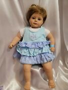 Thelma Resch Baby Me Artist Vinyl And Cloth Baby Doll -22.5 Vtg Infant Clothing