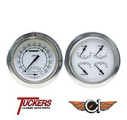 1954-55 Chevy Gmc Pu Gauges Tach Classic Instruments Ct54cw62 Classic White