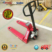 Op-918-5000 Ntep Pallet Jack Scale 5000 Lb With Printer Legal For Trade