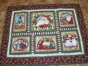 Christmas Machine Quilted Wall Hanging Nancy Halverson Quilt Blocks 43 X 32