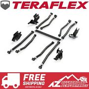 Teraflex Alpine Adjustable Long Arm And Bracket Kit For And03918-and03921 Jeep Wrangler Jlu