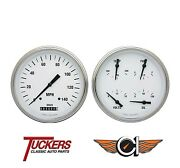 1947-53 Chevy Gmc Truck Gauge Pkg Classic Instruments Ct47wh52 White Hot