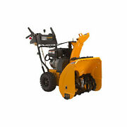 27 In. 208 Cc Two-stage Electric And Manual Start Snow Blower/snow Thrower New