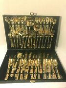 Wm Roger's And Son 64 Piece Silver Plated Flatware In Case
