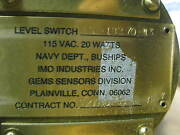 Gems Sensors Ls-18270-13 Liquid Level Switch Buoyancy Ship New