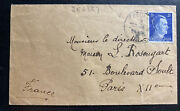 1942 Germany Occupied Jersey Channel Islands Feldpost Cover To Paris France