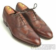 George Cleverley Brown Leather Classic Wingtip Oxfords Dress Shoes Uk 9 / Us 10