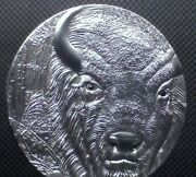 Silver Coin 2oz Togo 2012 Bison Europe High Relief - Antique Finish