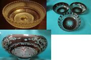 Crystal Cut Red Etch Bowl Pick One
