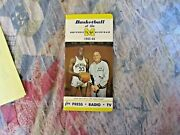 1965-66 Michigan Basketball Media Guide Yearbook 1966 Cazzie Russell Ny Knicks