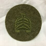 Vtg Military Patch Tank Corps Pfc Insignia Rank 1918 Od Wool