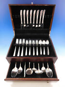 Silver Spray By Towle Sterling Silver Flatware Set For 8 Service 40 Pieces