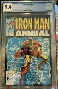 Rare Eternals Iron Man Annual 6 Cgc 9.4 White Pages To Free The Eternal 1 9 8 3