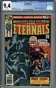 Eternals 1 Cgc 9.4 Nm Origin And 1st App Of The Eternals White Pages Nice Case