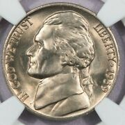 1939-d Reverse Of 38 1938 Jefferson Nickel Ngc Ms66 Flashy From A Fresh Roll