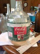 Fountain Syrup Bottle Coca Cola Gallon Htf 1960's With Cap Coke Advertising