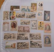 Victorian Trade Cards Lot 24pc Quacks And Cures Parkers Best Hoods Bitters Graves+