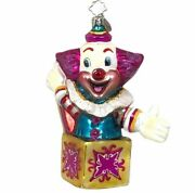 2004 Christopher Radko Laff In The Box Ornament Christmas Tree Holiday Clown
