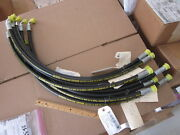 9 Pieces Parker Tough Cover Hydraulic Hose P/n At305742 Dozer New