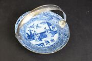 Lovely Antique Kangxi Plate With Figures 18th C With Dutch Silver Mounts 21.7cm