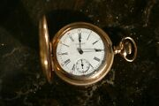 1901 Gold Plated 21jewel Waltham Pocket Watch Great Conditionkeeps Perfect Time