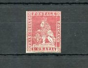 Italian States Tuscany Scott4 Mint Hinged Og With Rendon Certificate