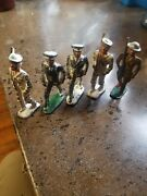 Vintage/antique Barclay Lead Toy Soldier Navy Doctor/solder Lot Of 5