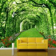 Wall Coverings Backdrop Wallpaper Mural Decorations 3d Green Forest Tree Design
