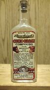 Vintage Medicine Hand Crafted Bottle,rawleigh's Colic Cure For Horses W/cannabis