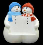 67.25 Snowman Bench Large Novelty Christmas Seating Collectible