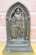 1931 Travelers Convention Palm Beach Florida Ins Co Ad Bronze Bookend Doorstop