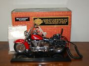 Telemania Harley Davidson Motorcycle Touch Tone Telephone Red W/box