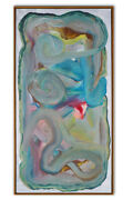 Original Abstract Nude Female Painting Framed Modern Signed Jensen Large