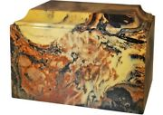 Large/adult 225 Cubic Inch Tuscany Antique Gold Cultured Marble Cremation Urn