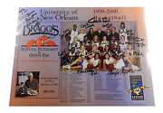 1999-00 University Of New Orleans Womenand039s Basketball Team Signed Poster 20 Autos