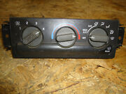 2004 Chevy Blazer Manual A/c Heater Climate Control Unit With Rear Defrost