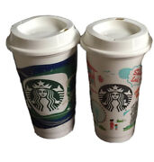 Starbucks Malaysia Singapore Philippines Reusable Cup Set W/ Lid Grande -no Card