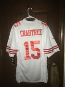 Nwt Mens Nike Size Large Michael Crabtree 49ers Nfl Football Jersey Sewn