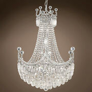 Royal Throne Design 18 Light 24 Chrome Chandelier With Clear Crystals