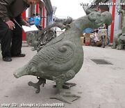 Chinese Vintage Bronze Carved Duck Folk Classical Beast Pot Statue