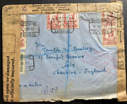 1937 Zaragoza Spain Civil War Officially Secured Cover To Sale England Civil War