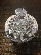 Waterford Crystal Apple Paperweight In Excellent Condition W/original Box.