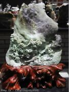 15 Chinese Dushan Jade Be Promoted Step By Step Pine Tree Old Man Statue