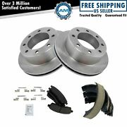 Rear Posi Ceramic Brake Pad And Rotors With Parking Shoes For Ford Pickup Suv