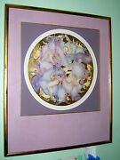 Guillaume Azoulay Carousel Etching With Gold Leaf Signed Numbered Framed Art