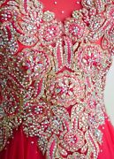 Watermelon Prom 2020 Evening Pageant Formal Ball Gala Dress Wedding Gown M 8