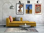 Africa Vintage Travel Advertising Art Print Posters. Choice Of 3 Great Prints