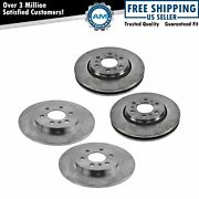 Front And Rear Brake Rotor Kit Set Of 4 For Buick Chevy Pontiac Saturn Suv Truck